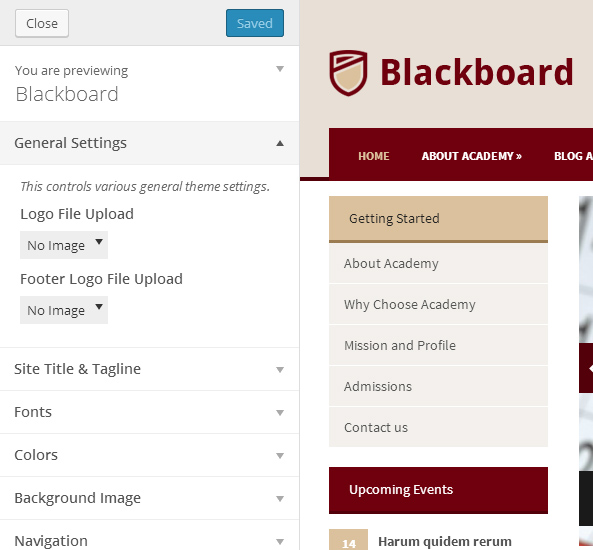 Blackboard Theme Customization
