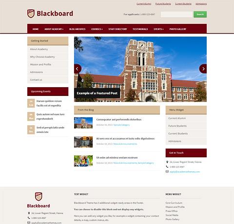 Black board word - Unique Education WordPress Theme