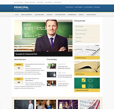 Principal - Ultimate Education WordPress Theme