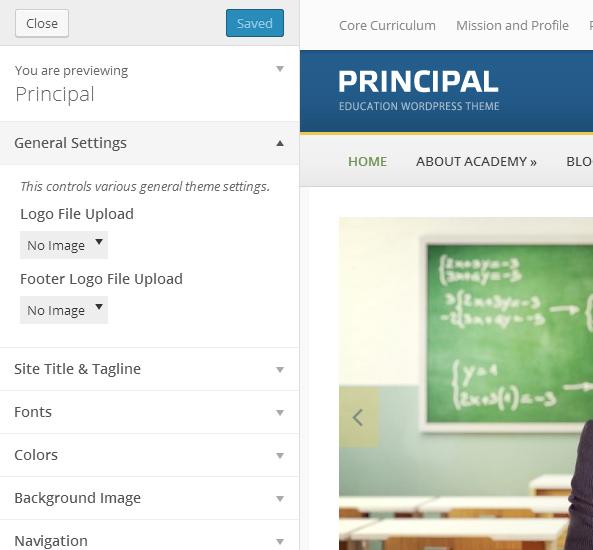 Principal Theme Customization